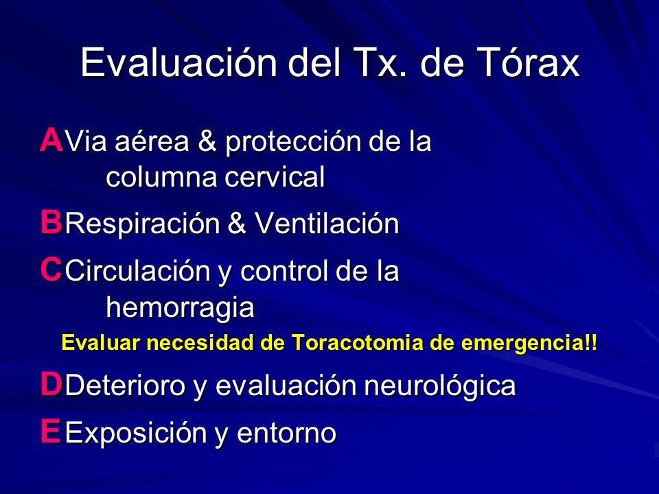 Evaluación del Tx. de Tórax
