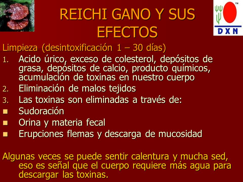 REICHI GANO Y SUS EFECTOS