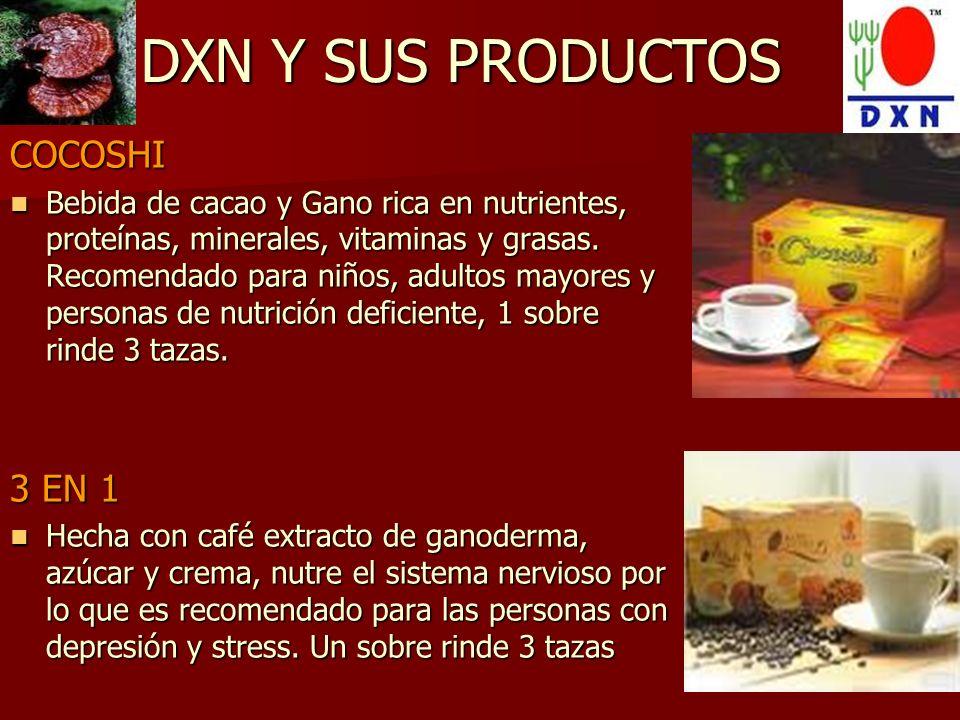 DXN Y SUS PRODUCTOS COCOSHI 3 EN 1