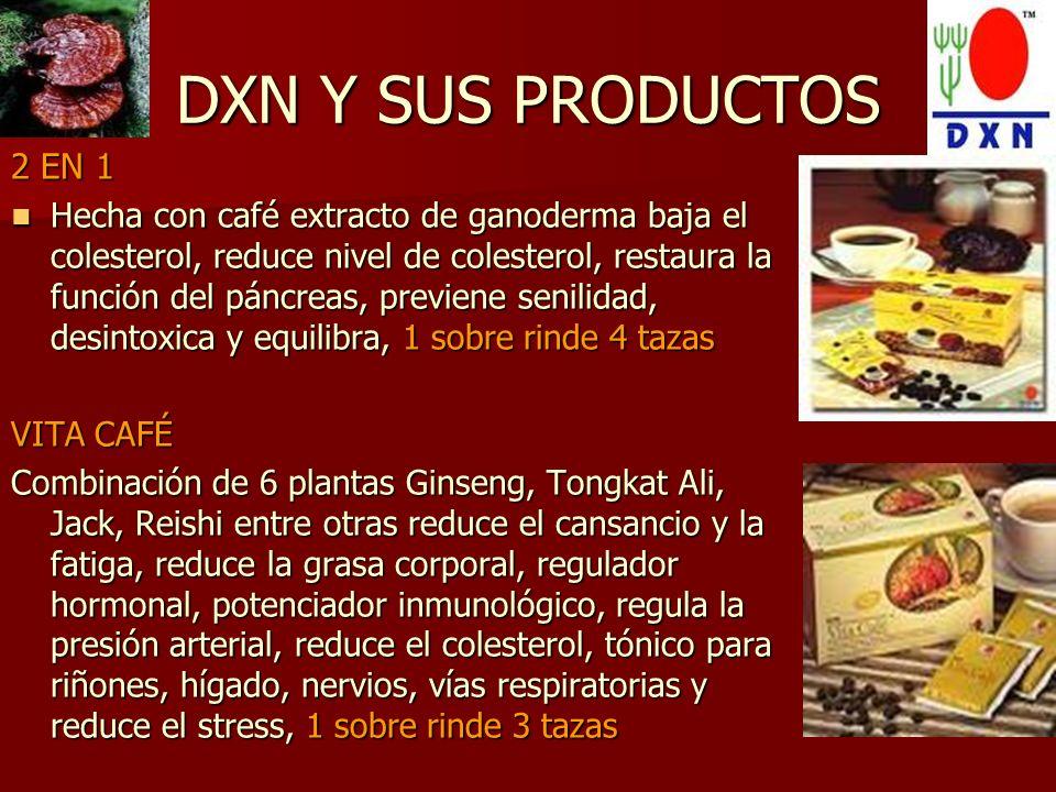 DXN Y SUS PRODUCTOS 2 EN 1.
