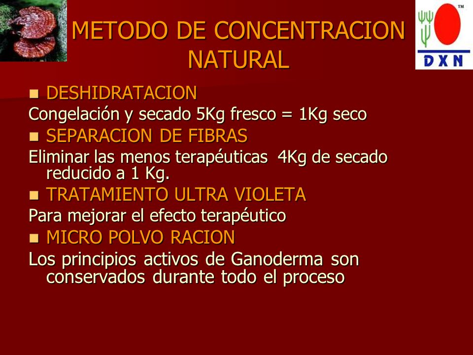 METODO DE CONCENTRACION NATURAL