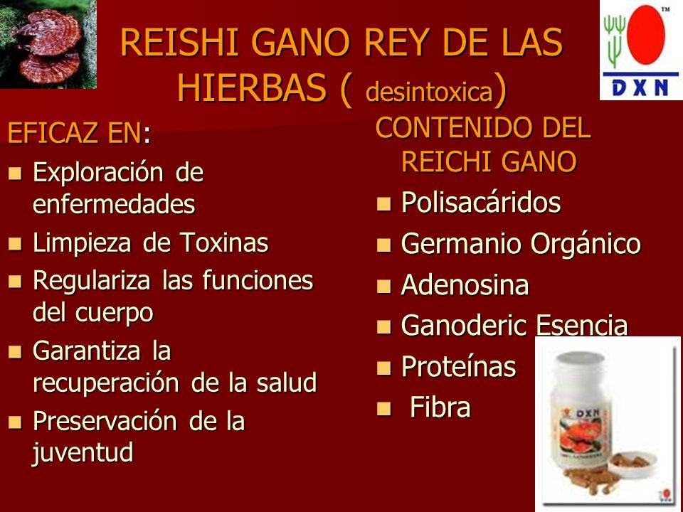 REISHI GANO REY DE LAS HIERBAS ( desintoxica)