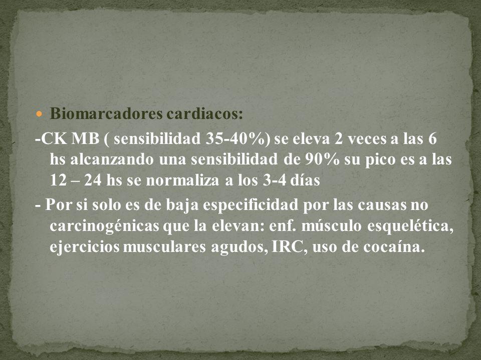 Biomarcadores cardiacos: