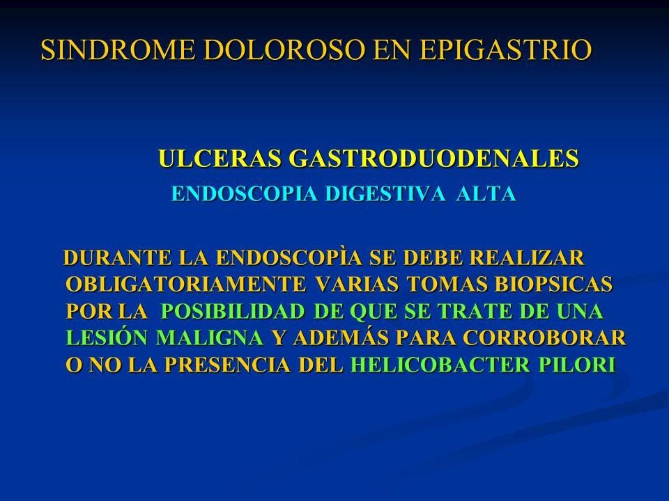 SINDROME DOLOROSO EN EPIGASTRIO