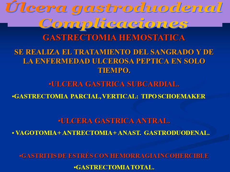 Úlcera gastroduodenal Complicaciones