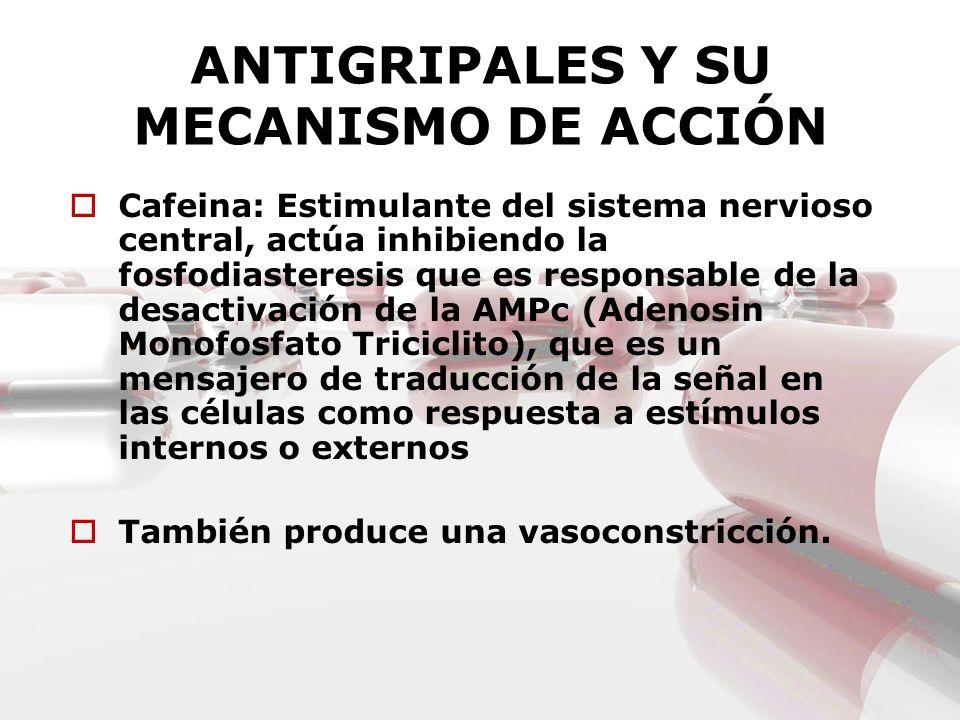 ANTIGRIPALES Y SU MECANISMO DE ACCIÓN
