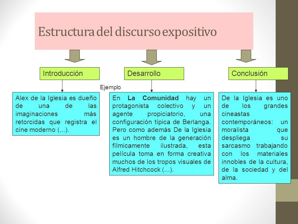 Estructura del discurso expositivo