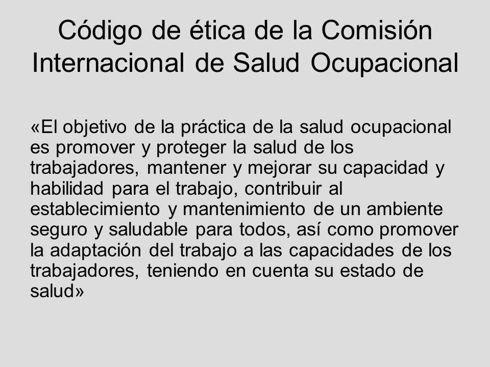 Código de ética de la Comisión Internacional de Salud Ocupacional
