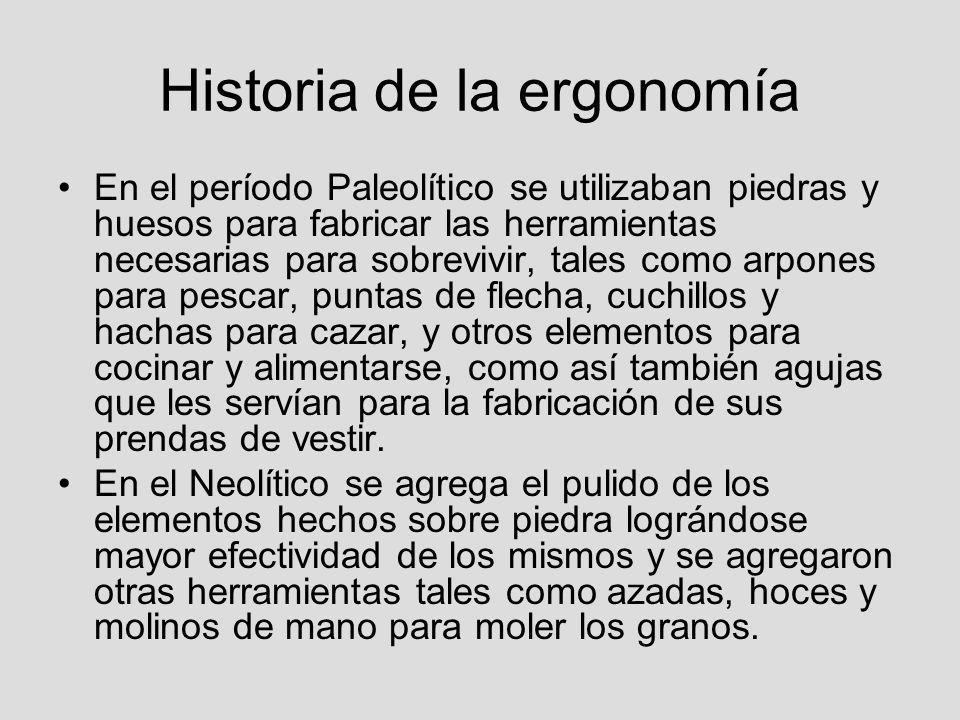 Historia de la ergonomía