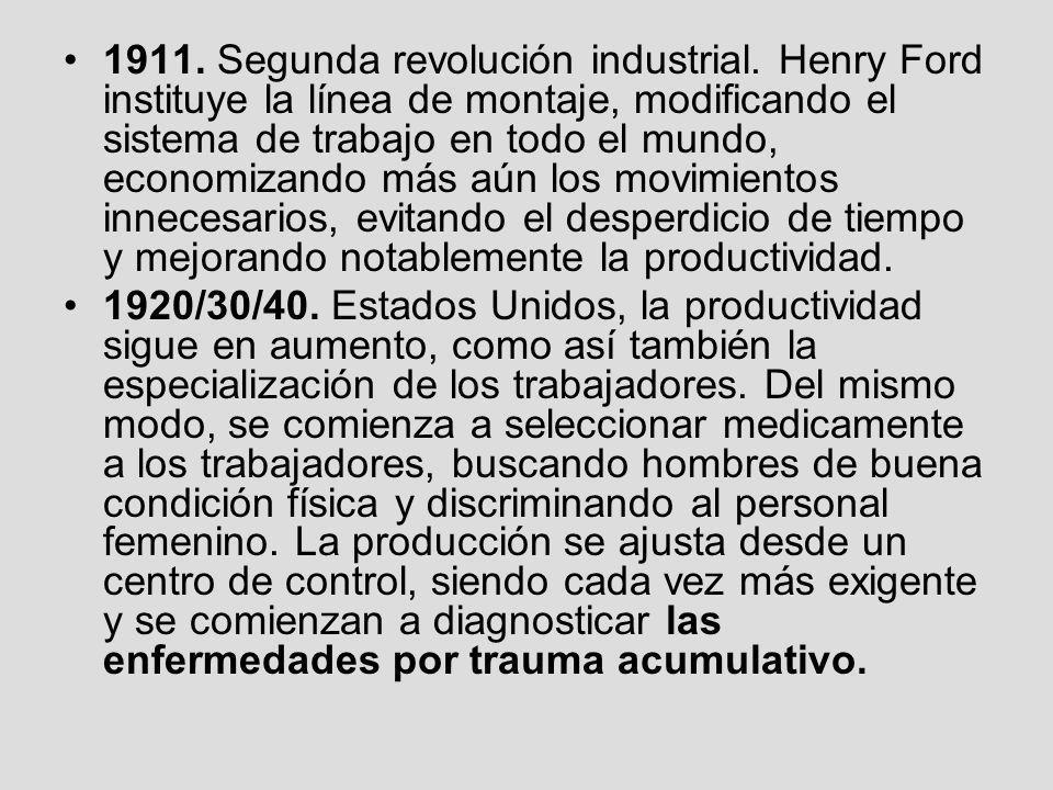 1911. Segunda revolución industrial