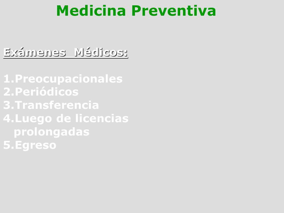 Medicina Preventiva Exámenes Médicos: Preocupacionales Periódicos