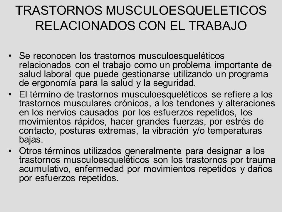 TRASTORNOS MUSCULOESQUELETICOS RELACIONADOS CON EL TRABAJO