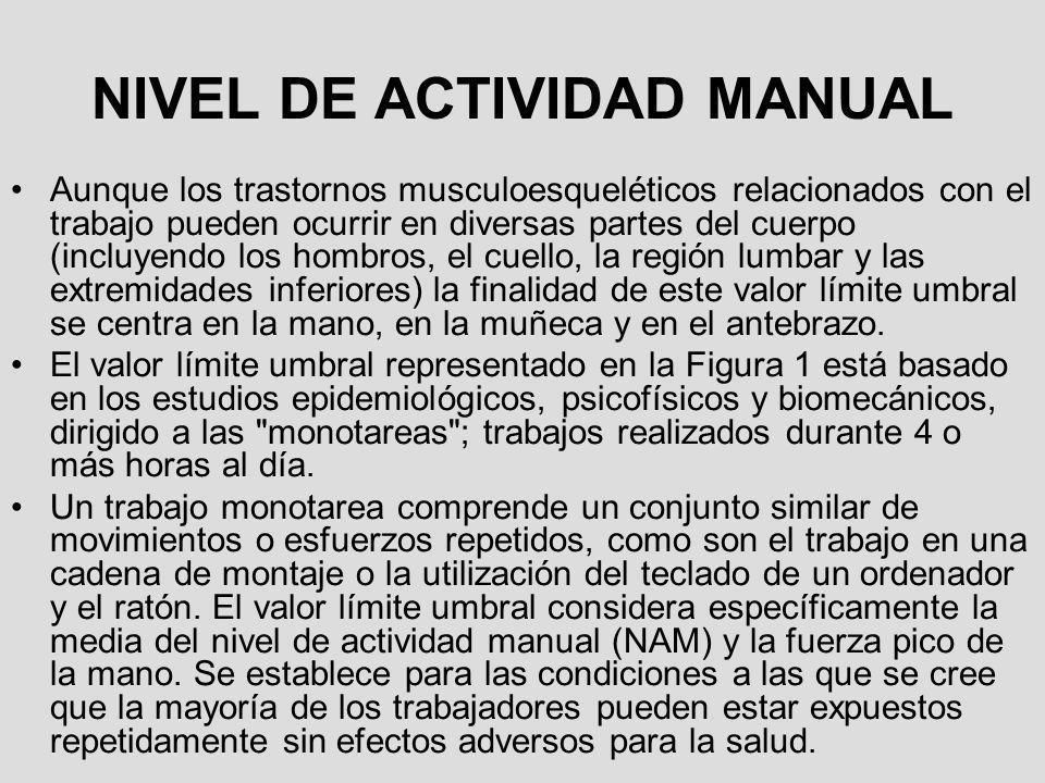 NIVEL DE ACTIVIDAD MANUAL