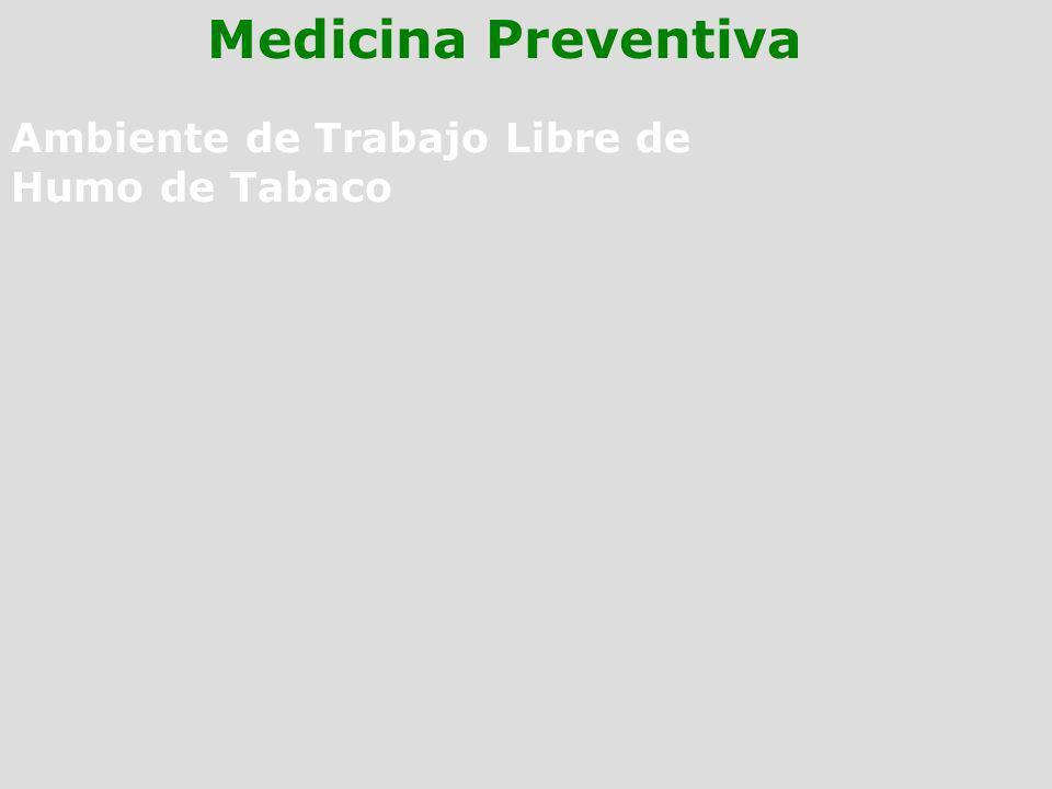 Medicina Preventiva Ambiente de Trabajo Libre de Humo de Tabaco