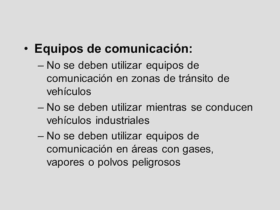 Equipos de comunicación: