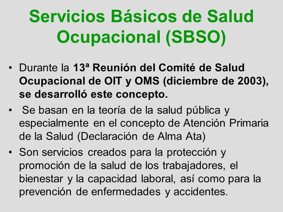 Servicios Básicos de Salud Ocupacional (SBSO)