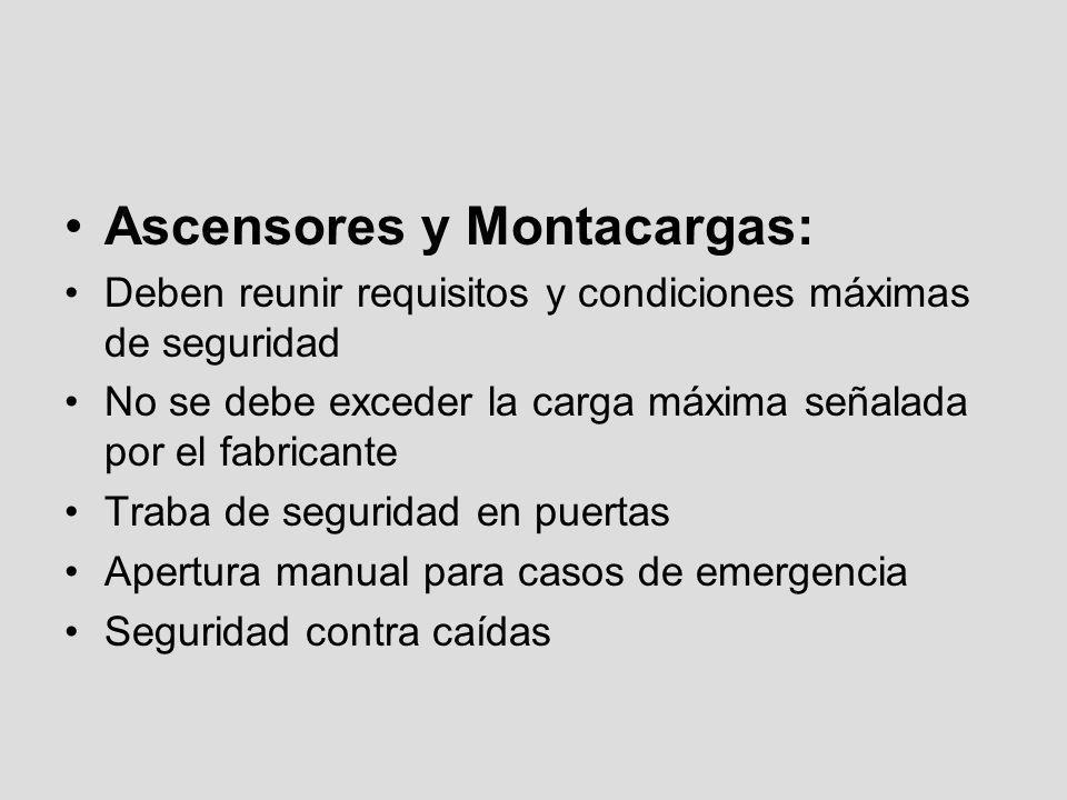 Ascensores y Montacargas: