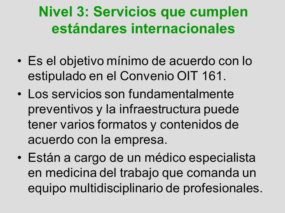 Nivel 3: Servicios que cumplen estándares internacionales