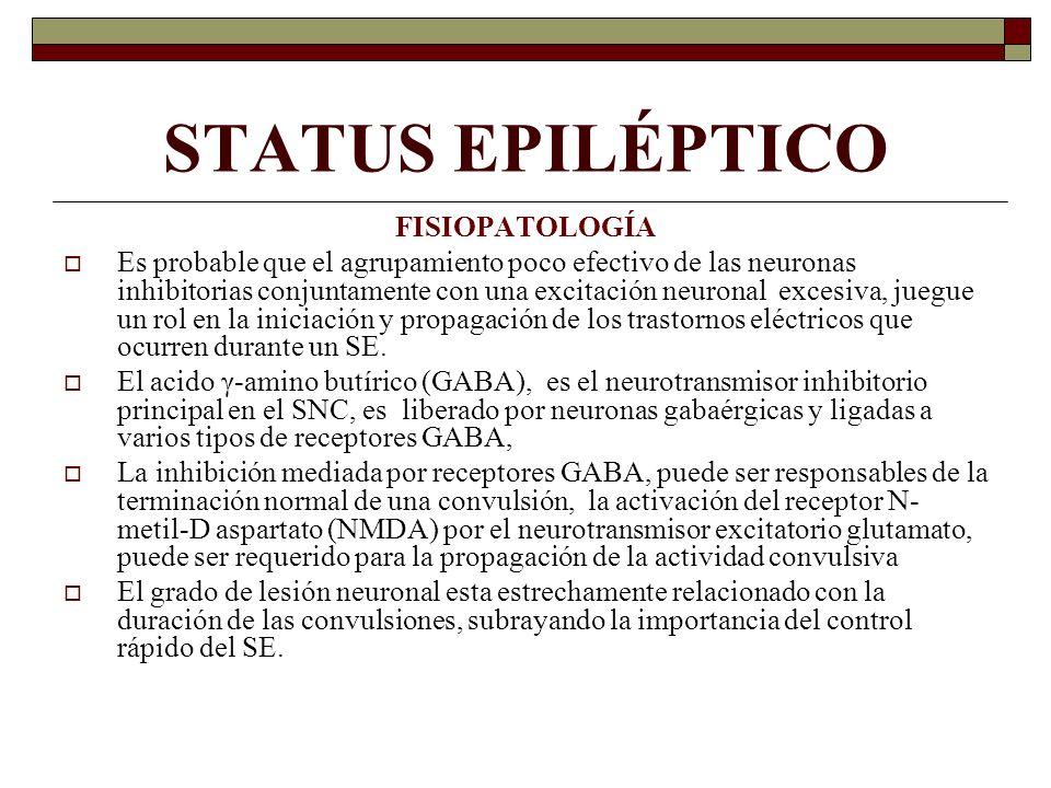 STATUS EPILÉPTICO FISIOPATOLOGÍA