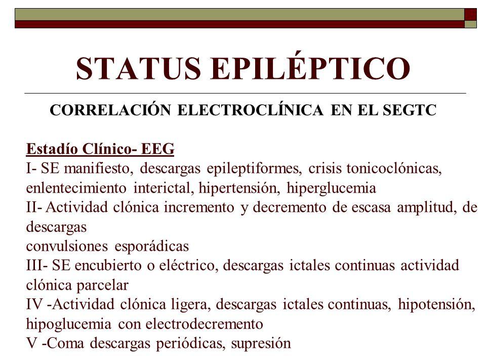 CORRELACIÓN ELECTROCLÍNICA EN EL SEGTC