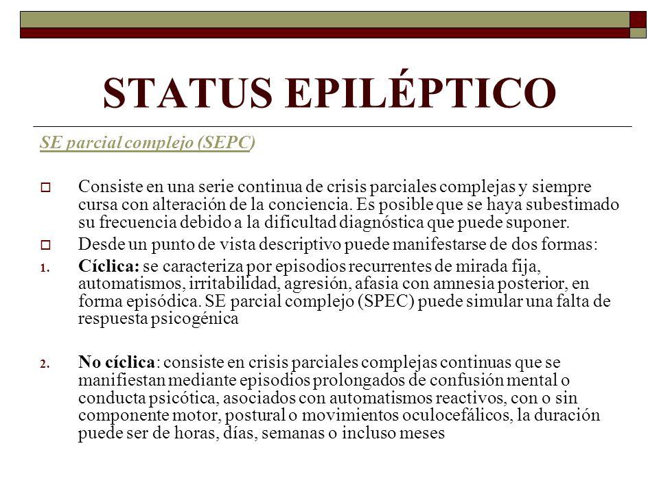 STATUS EPILÉPTICO SE parcial complejo (SEPC)