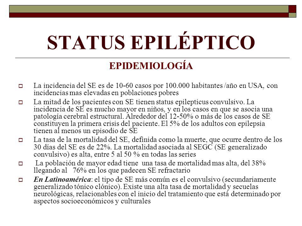 STATUS EPILÉPTICO EPIDEMIOLOGÍA