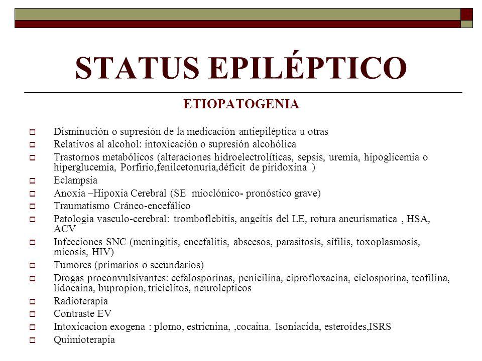 STATUS EPILÉPTICO ETIOPATOGENIA