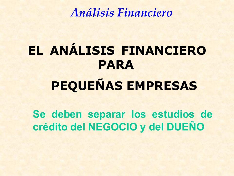 EL ANÁLISIS FINANCIERO PARA PEQUEÑAS EMPRESAS