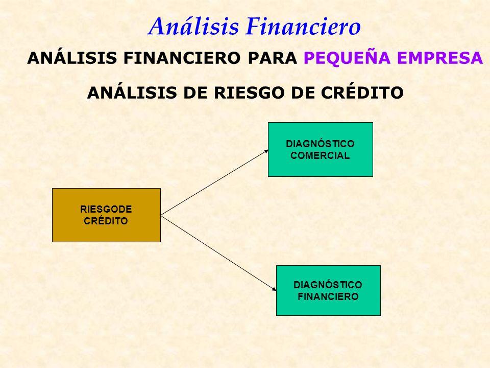 ANÁLISIS FINANCIERO PARA PEQUEÑA EMPRESA ANÁLISIS DE RIESGO DE CRÉDITO