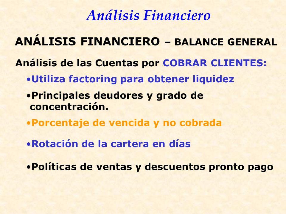ANÁLISIS FINANCIERO – BALANCE GENERAL