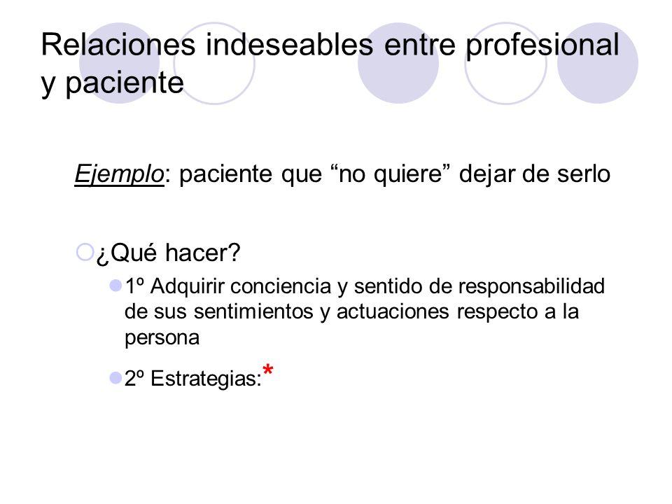 Relaciones indeseables entre profesional y paciente