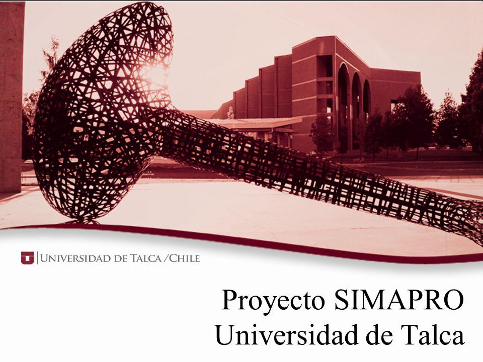 Proyecto SIMAPRO Universidad de Talca
