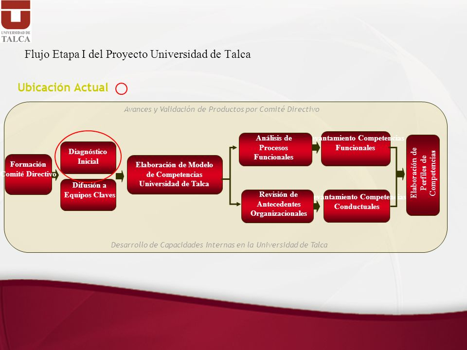 Flujo Etapa I del Proyecto Universidad de Talca