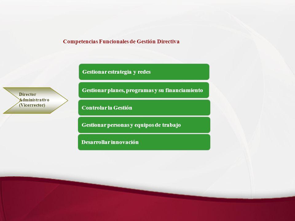 Competencias Funcionales de Gestión Directiva