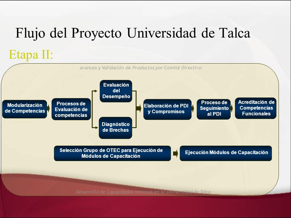 Flujo del Proyecto Universidad de Talca