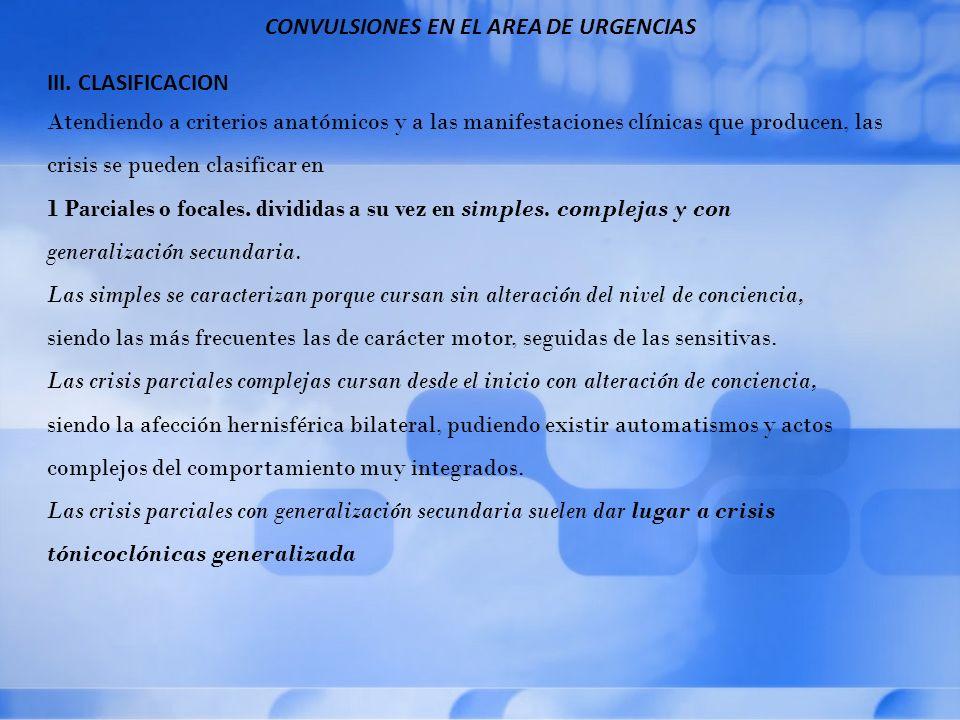 CONVULSIONES EN EL AREA DE URGENCIAS