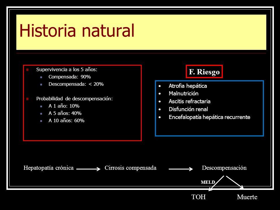 Historia natural F. Riesgo TOH Muerte