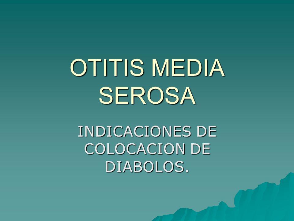 INDICACIONES DE COLOCACION DE DIABOLOS.