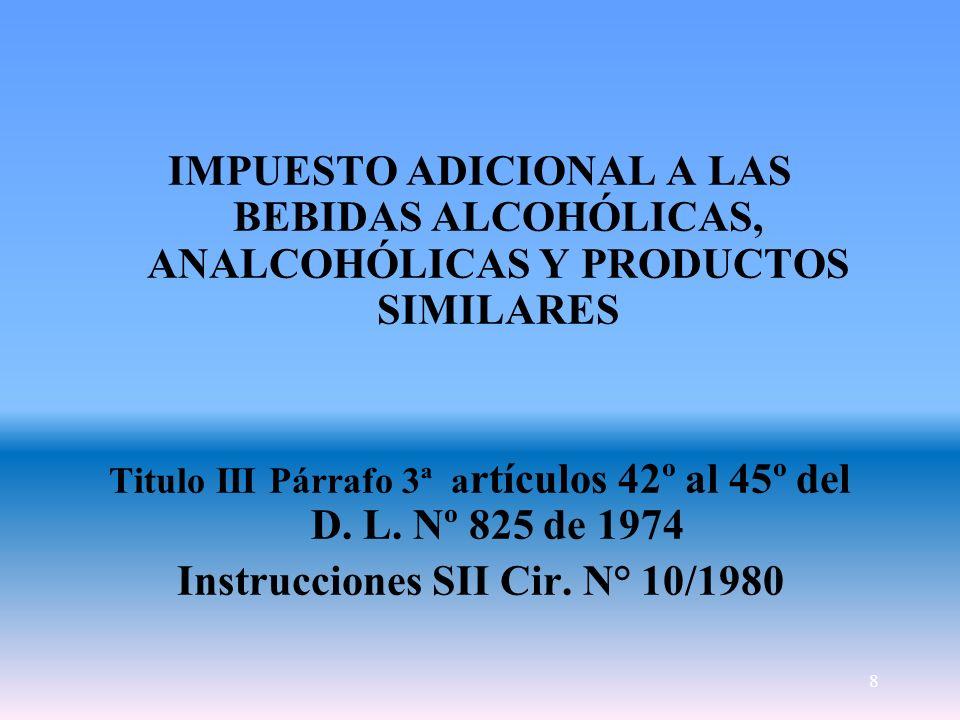 Instrucciones SII Cir. N° 10/1980
