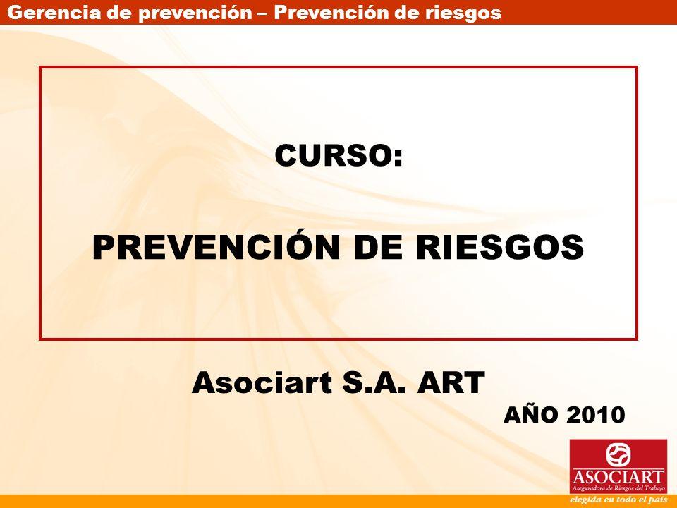 CURSO: PREVENCIÓN DE RIESGOS