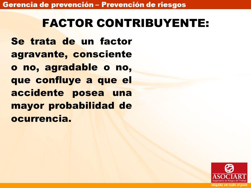 FACTOR CONTRIBUYENTE: