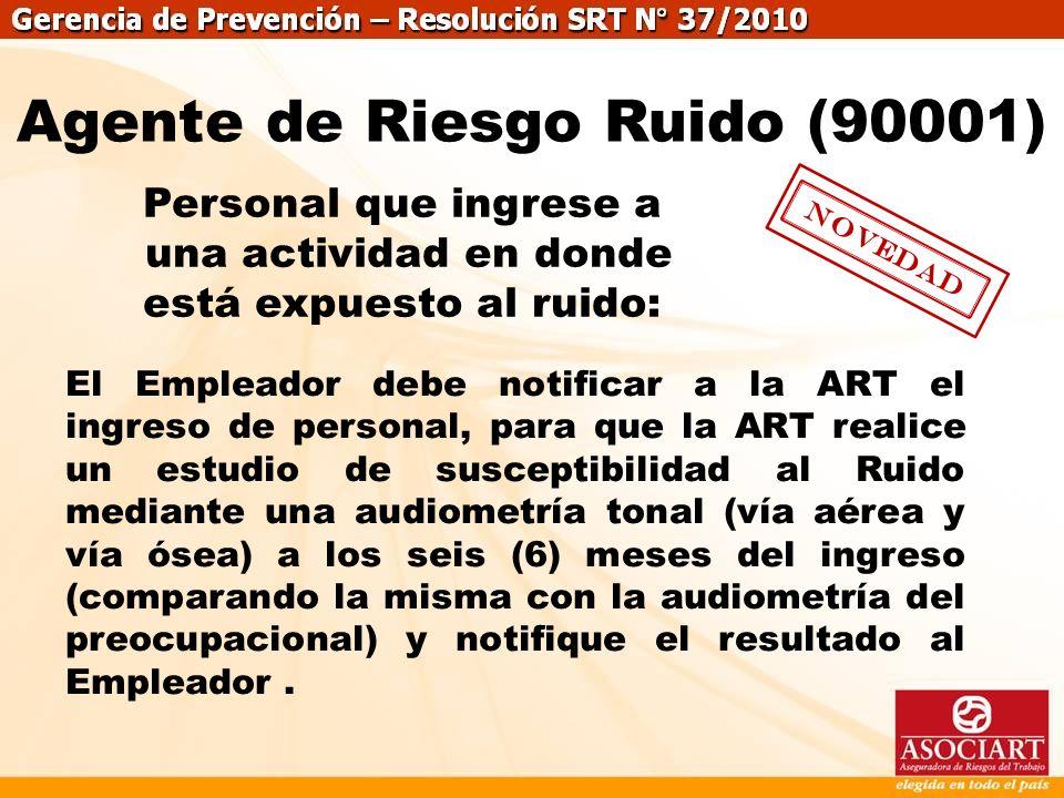 Agente de Riesgo Ruido (90001)