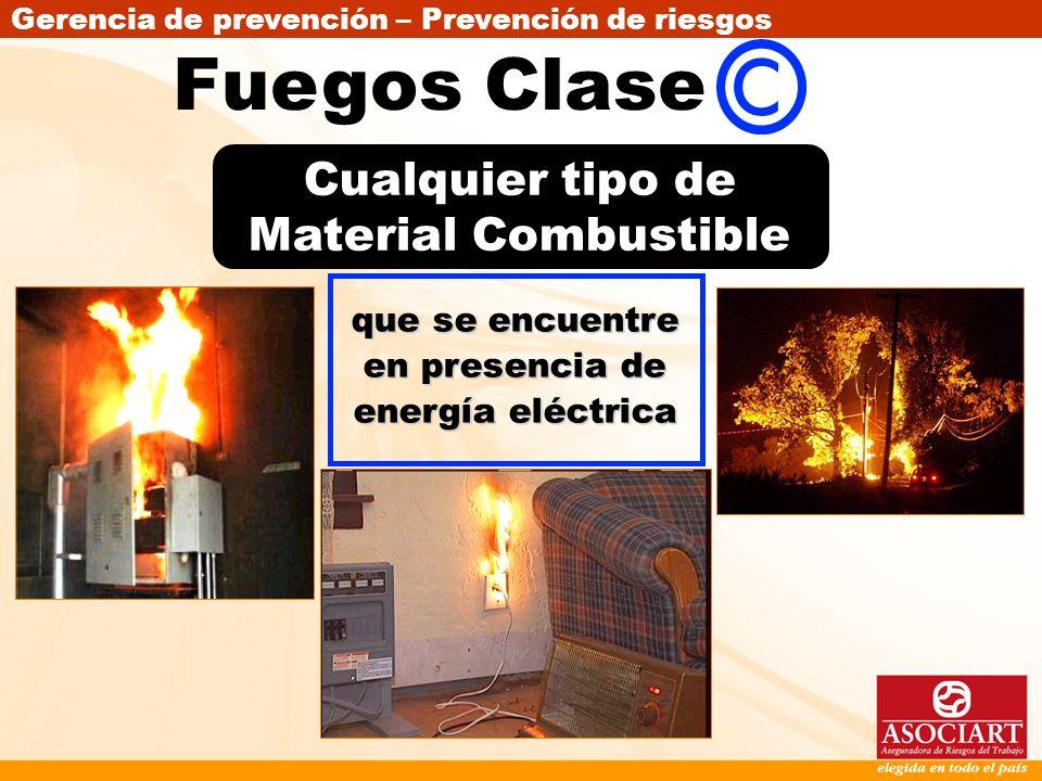 Fuegos Clase Cualquier tipo de Material Combustible