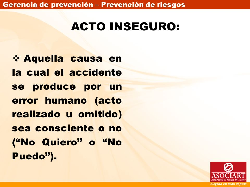 ACTO INSEGURO: