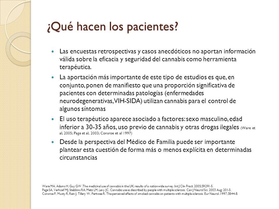 ¿Qué hacen los pacientes