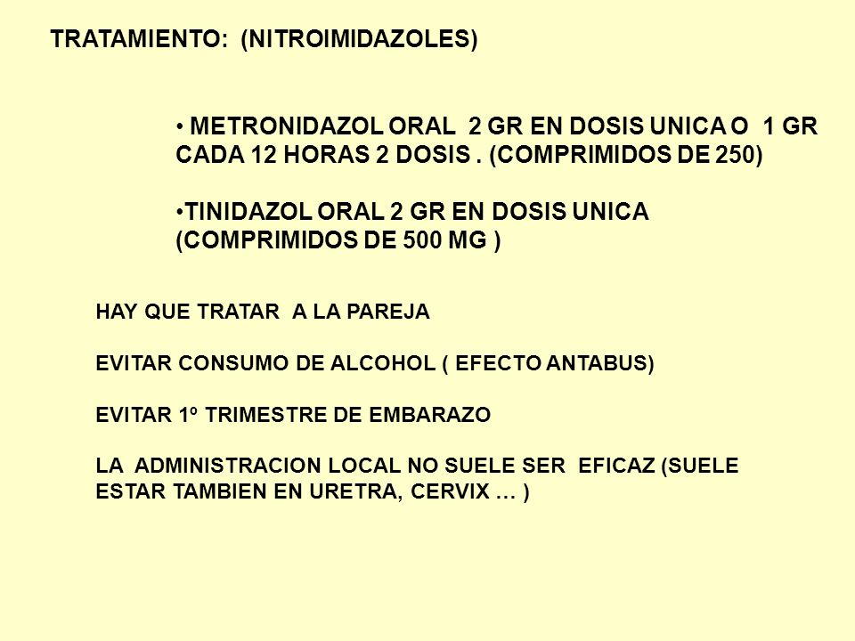 TRATAMIENTO: (NITROIMIDAZOLES)