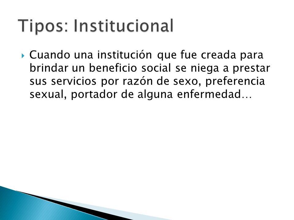 Tipos: Institucional