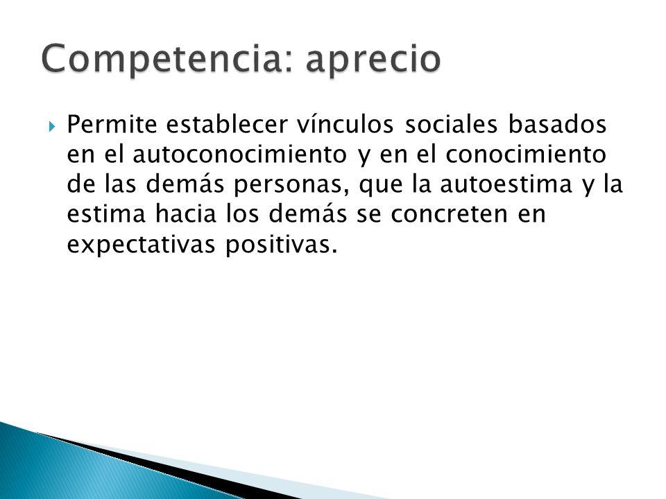 Competencia: aprecio