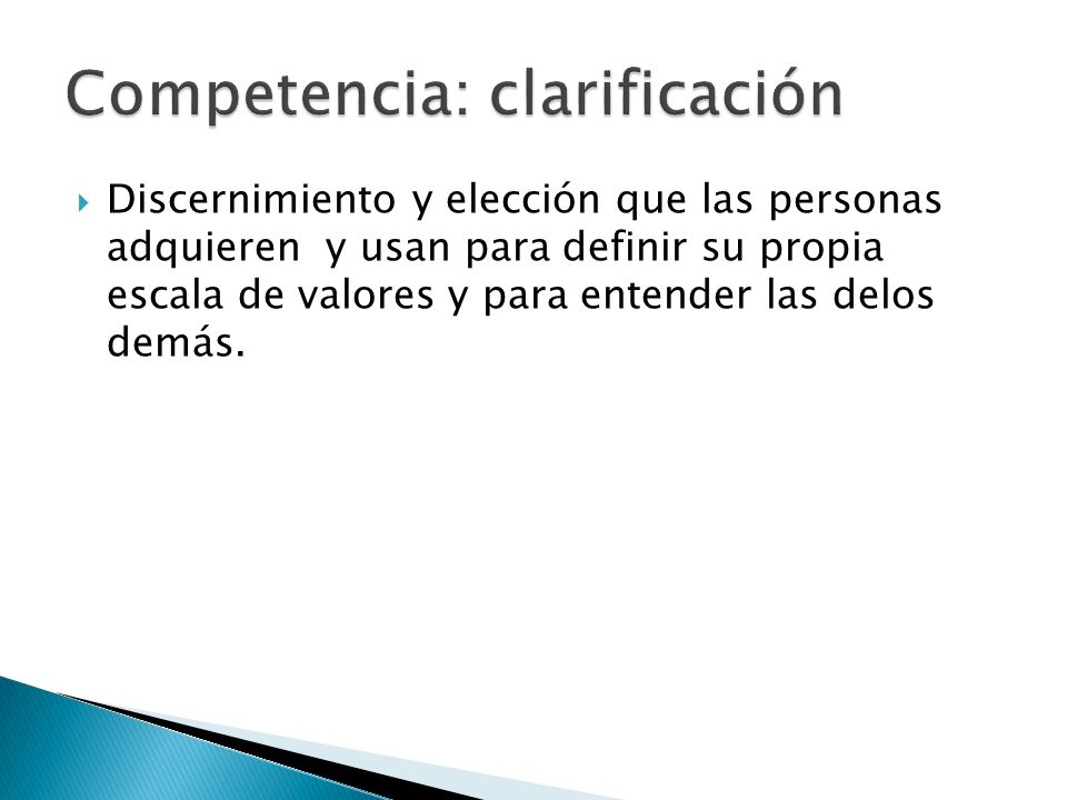Competencia: clarificación