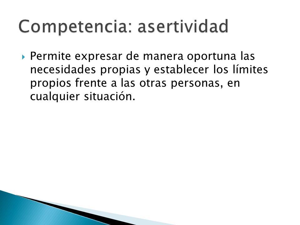 Competencia: asertividad